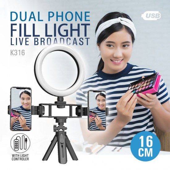 Dual Phone Ring Light 16cm