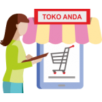 1. Customer anda membeli produk Spotlite di toko online anda dengan harga jual misalnya Rp.1000